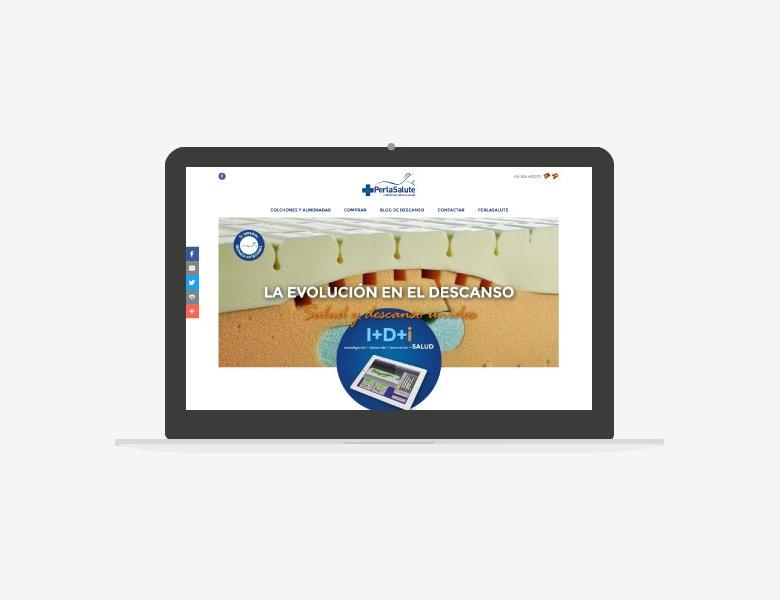 diseño web corporativo para tienda de colchones 01