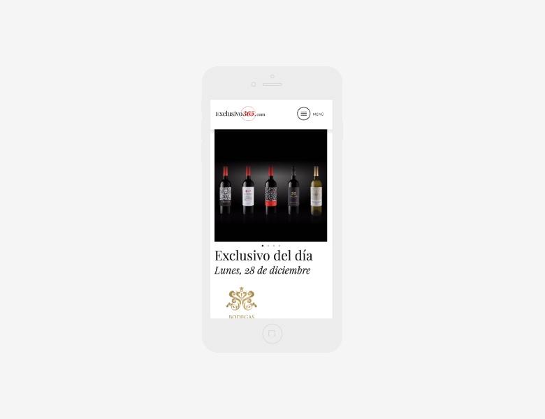 diseño web para portal del promociones exclusivas 01