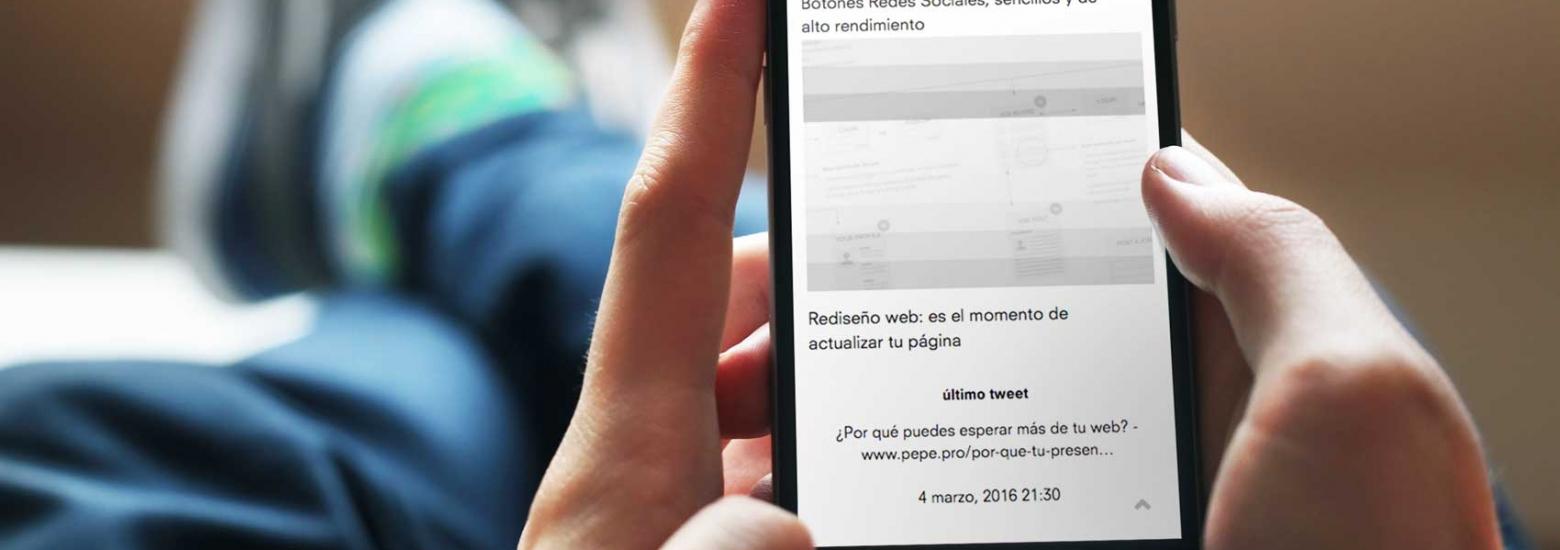 incrustar twitter en el diseño web